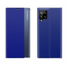 Atverčiamas dėklas New Sleep Case Samsung Galaxy A12 Mėlynas