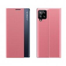 Atverčiamas dėklas New Sleep Case Samsung Galaxy A12 Rožinis