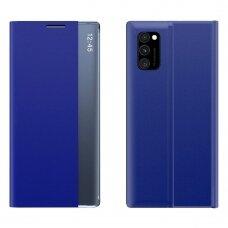 Atverčiamas dėklas New Sleep Case Bookcase Samsung Galaxy M31s Tamsiai mėlynas