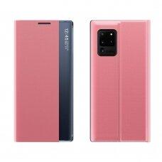Atverčiamas dėklas New Sleep Case Bookcase Type Case Samsung Galaxy S20 FE 5G Rožinis