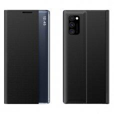 New Sleep Case Atverčiamas Dėklas, Turintis Atramos Funkciją skirta Xiaomi Poco M3 Juodas