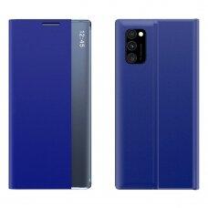 New Sleep Case Atverčiamas Dėklas, Turintis Atramos Funkciją skirta Xiaomi Poco M3 Mėlynas