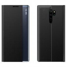 New Sleep Case Atverčiamas Dėklas, Turintis Atramos Funkciją skirta Xiaomi Redmi Note 8 Pro Juodas