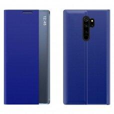 New Sleep Case Atverčiamas Dėklas, Turintis Atramos Funkciją skirta Xiaomi Redmi Note 8 Pro Mėlynas