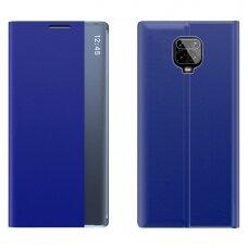 New Sleep Case Atverčiamas Dėklas Xiaomi Redmi Note 9 Pro / Redmi Note 9S Mėlynas