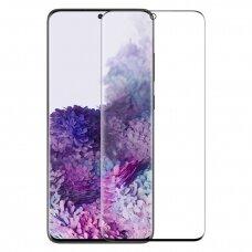 Nillkin 3D Cp-Max Ultra Thin Pilnai Dengiantis Stiklas  0,33 Mm 9H  Samsung Galaxy S20 Plus Skaidrus