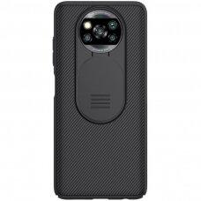 Dėklas Nillkin CamShield Case Slim Coversu kameros apsauga Xiaomi Poco X3 NFC / Poco X3 Pro Juodas