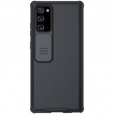 Nillkin Camshield Pro Dėklas Su Apsauginiu Kameros Dangteliu Samsung Galaxy Note 20 Juodas