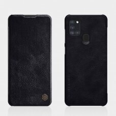 Nillkin Qin originalus odinis dėklas Samsung Galaxy A21S juodas UCS027