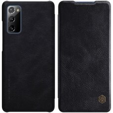 Nillkin Qin atverčiamas dėklas odinis Samsung Galaxy S20 FE 5G Juodas