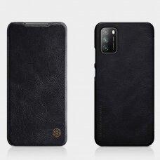 Atverčiamas dėklas Nillkin Qin odinis Xiaomi Poco M3 / Redmi 9t Juodas