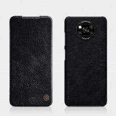 Atverčiamas dėklas Nillkin Qin odinis Xiaomi Poco X3 NFC / Poco X3 Pro Juodas
