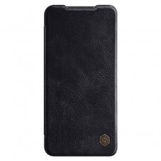 Originalus Nillkin Qin Natūralios Odos Dėklas Xiaomi Redmi 10X 4G / Xiaomi Redmi Note 9 Juodas