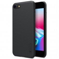 Dėklas Nillkin Super Frosted Shield Dėklas + Stovelis Iphone Se 2020 / Iphone 8 / Iphone 7 Juodas