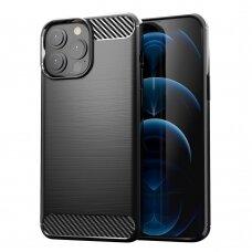 Dėklas Nillkin Synthetic Fiber Carbon iPhone 13 Pro Max juodas