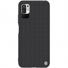 Dėklas Nillkin Textured Case rugged cover su austu nailonu Xiaomi Redmi Note 10 5G Juodas