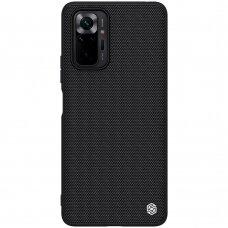 Dėklas Nillkin Textured Case dengtas nailonu Xiaomi Redmi Note 10 Pro Juodas