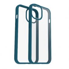 Dėklas OtterBox React iPhone 13 mini permatomas mėlynais kraštais