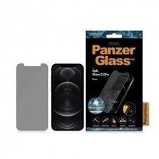 Ekrano Apsauginis Stiklas PanzerGlass Standard Super + Privacy Antibacterial iPhone 12/12 Pro