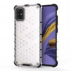 """Plastikinis apsauginis dėklas """"Honeycomb armor"""" Samsung Galaxy A51 permatomas (lop20)"""