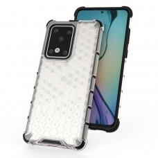 """Plastikinis Apsauginis Dėklas """"Honeycomb Armor"""" Samsung Galaxy S20 Ultra Skaidrus"""
