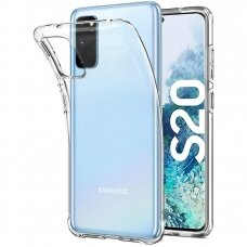 """Plonas Gelinis Dėklas Nugarėlė """"Ultra Clear 0.5Mm"""" Samsung Galaxy S20 Permatomas"""