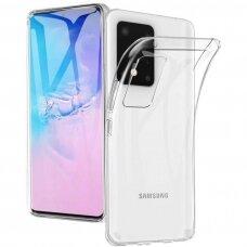 """Plonas Gelinis Dėklas Nugarėlė """"Ultra Clear 0.5Mm"""" Samsung Galaxy S20 Ultra Permatomas"""