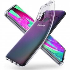 "Plonas Tpu Dėklas 0.5Mm ""Ultra Clear"" Samsung Galaxy A40 Permatomas"
