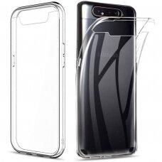 "Plonas Tpu Dėklas 0.5Mm ""Ultra Clear"" Samsung Galaxy A80 Permatomas"