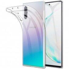 """Plonas Tpu Dėklas 0.5Mm """"Ultra Clear"""" Samsung Galaxy Note 10 Permatomas"""