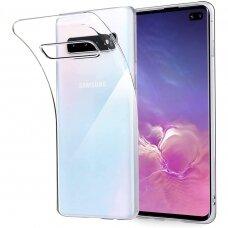 """Plonas Tpu Dėklas 0.5Mm """"Ultra Clear"""" Samsung Galaxy S10 Permatomas"""