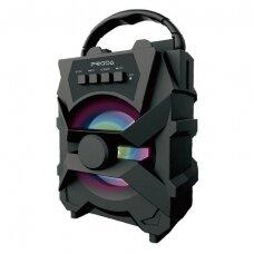 Proda Xunshen portable wireless bluetooth speaker FM radio / SD card reader / AUX / USB juodas (PD-S500 juodas)