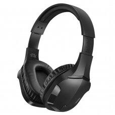 Remax žaidimų bevielės Bluetooth ausinės Juoda (RB-750HB black)