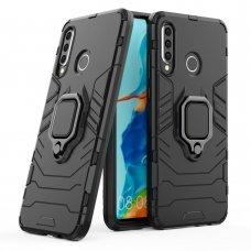 """Apsauginis dėklas su žiedu """"Ring Armor Rugged"""" Huawei P30 Lite juodas"""