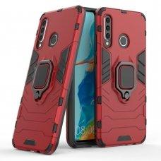 """Apsauginis dėklas su žiedu """"Ring Armor Rugged"""" Huawei P30 Lite raudonas"""