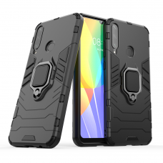 Ring Armor Case Kickstand tvirtas dėklas su žiedu-stoveliu Huawei Y6p juoda