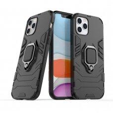 Apsauginis dėklas su žiedu 'Ring Armor Rugged' iPhone 12 Pro / iPhone 12 Juodas