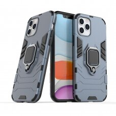 Apsauginis dėklas su žiedu 'Ring Armor Rugged' iPhone 12 Pro / iPhone 12 Tamsiai mėlynas