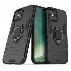Apsauginis dėklas su žiedu 'Ring Armor Rugged' iPhone 12 Pro Max juodas