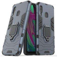 """Apsauginis dėklas su žiedu """"Ring Armor Rugged"""" Samsung Galaxy A40 mėlynas (awr89) UCS032"""