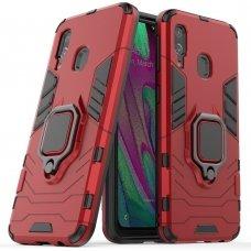 """Apsauginis dėklas su žiedu """"Ring Armor Rugged"""" Samsung Galaxy A40 raudonas (awr89) UCS032"""