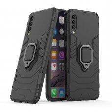 """Apsauginis dėklas su žiedu """"Ring Armor Rugged"""" Samsung Galaxy A50 juodas (wjn18) UCS031"""