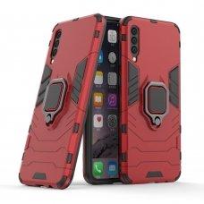 """Apsauginis dėklas su žiedu """"Ring Armor Rugged"""" Samsung Galaxy A50 raudonas (wjn18) UCS031"""