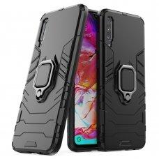 """Apsauginis dėklas su žiedu """"Ring Armor Rugged"""" Samsung Galaxy A70 juodas"""