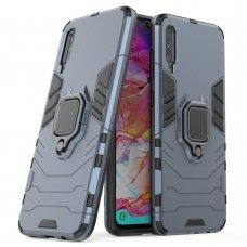 """Apsauginis dėklas su žiedu """"Ring Armor Rugged"""" Samsung Galaxy A70 mėlynas"""