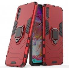 """Apsauginis dėklas su žiedu """"Ring Armor Rugged"""" Samsung Galaxy A70 raudonas"""