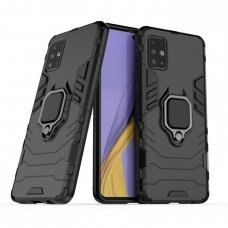"""Apsauginis dėklas su žiedu """"Ring Armor Rugged"""" Samsung Galaxy A71 juodas"""