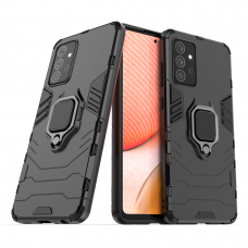 Dėklas su žiedu Ring Armor Case Samsung Galaxy A72 4G Juodas