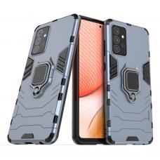 Dėklas Ring Armor Case Kickstand Tough Rugged Samsung Galaxy A72 4G Mėlynas