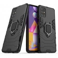 """Dėklas su žiedu """"Ring Armor Case"""" skirta Samsung Galaxy M31S juodas"""